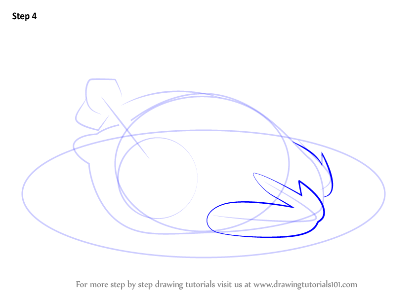 learn how to draw cooked chicken  special dishes  step by step   drawing tutorials