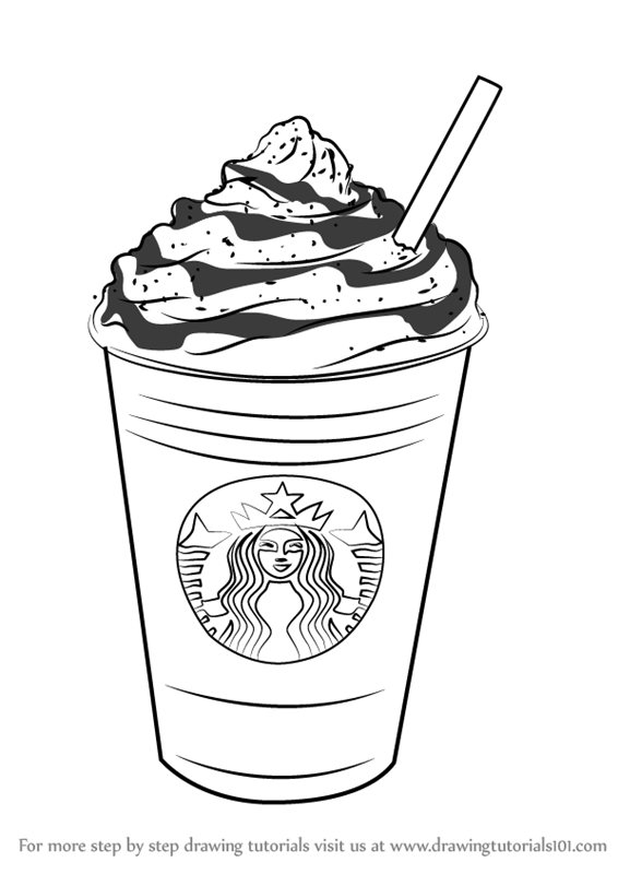 Learn How To Draw Frappuccino Special Dishes Step By Step Drawing Tutorials