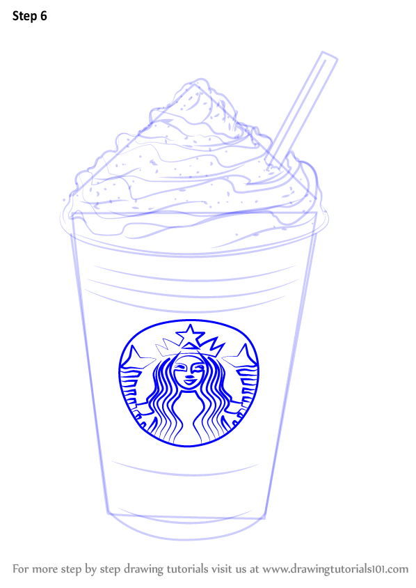 Learn How To Draw Frappuccino Special Dishes Step By Step