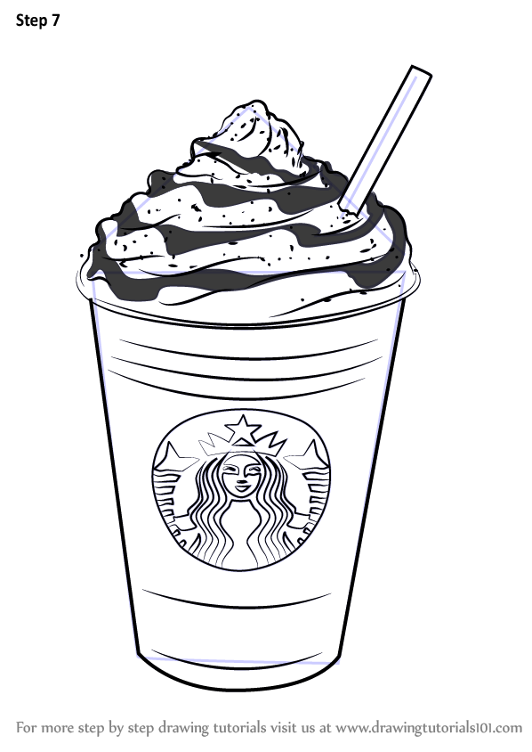 Step By Step How To Draw Frappuccino Drawingtutorials101 Com