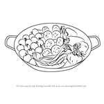 How to Draw Fresh Vegetable Pan