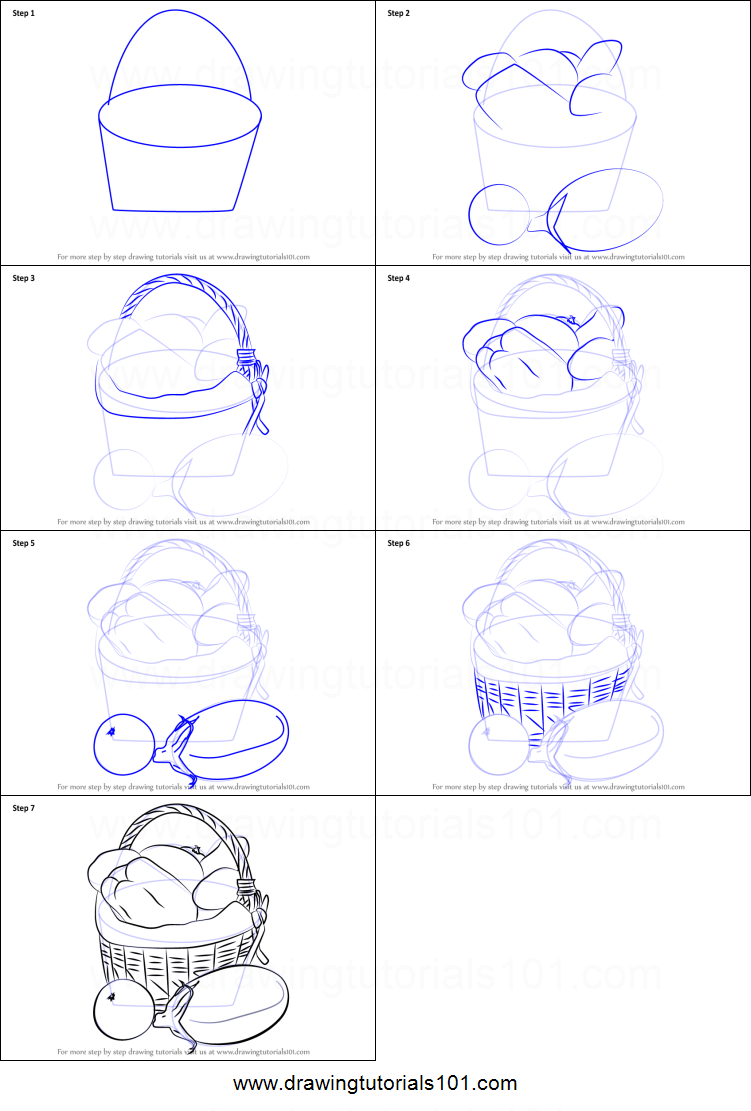 How To Draw Vegetable Basket Easy Printable Step By Step Drawing