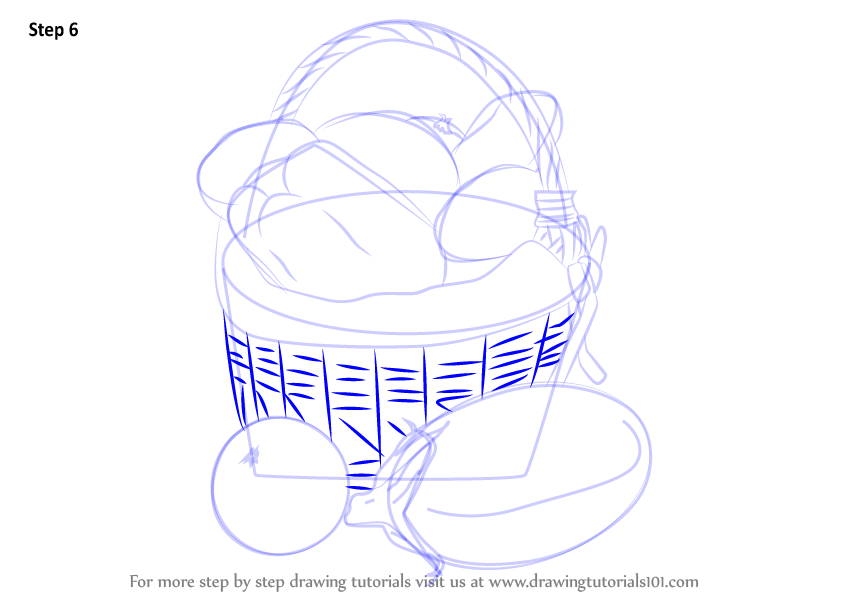 Learn How To Draw Vegetable Basket Easy Vegetables Step