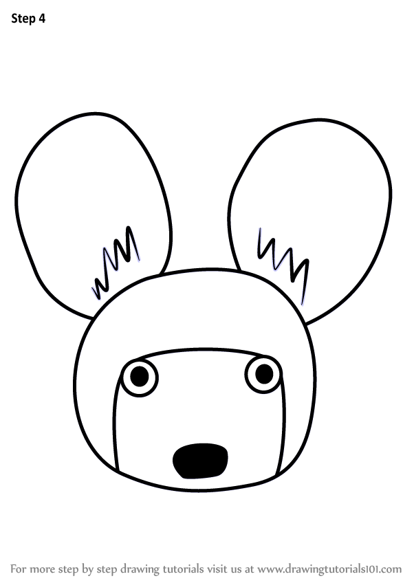 Learn How To Draw An African Wild Dog Face For Kids Animal Faces