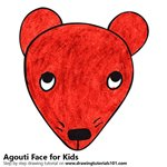 How to Draw an Agouti Face for Kids