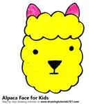 How to Draw an Alpaca Face for Kids