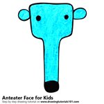 How to Draw an Anteater Face for Kids