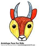 How to Draw an Antelope Face for Kids