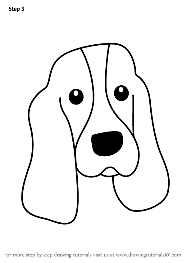 Learn How To Draw A Bloodhound Dog Face For Kids Animal Faces For