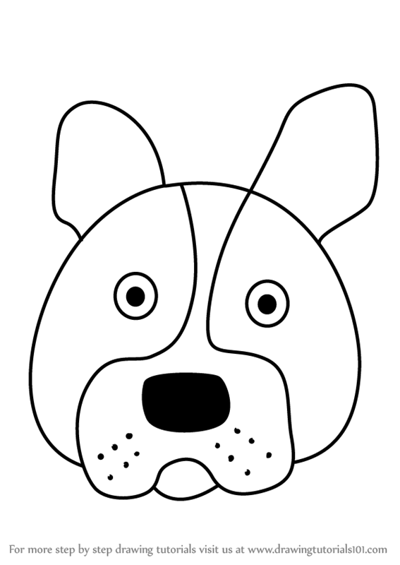 how to draw a boston terrier learn how to draw a boston terrier dog face for kids 1740