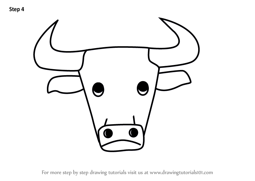 learn how to draw a bull face for kids animal faces for kids step