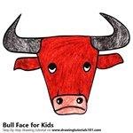 How to Draw a Bull Face for Kids