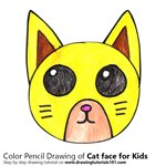 How to Draw a Cat Face for Kids