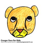 How to Draw a Cougar Face for Kids