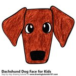 How to Draw a Dachshund Dog Face for Kids