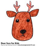 How to Draw a Deer Face for Kids