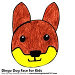 How to Draw a Dingo Dog Face for Kids