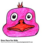 How to Draw an Emu Face for Kids