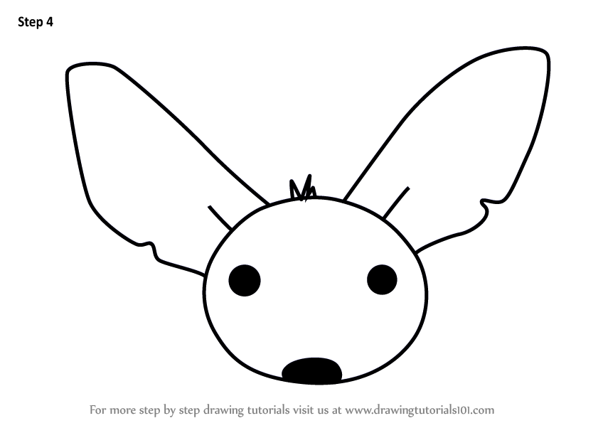 Learn How To Draw A Fennec Fox Face For Kids Animal Faces For Kids