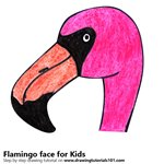 How to Draw a Flamingo Face for Kids