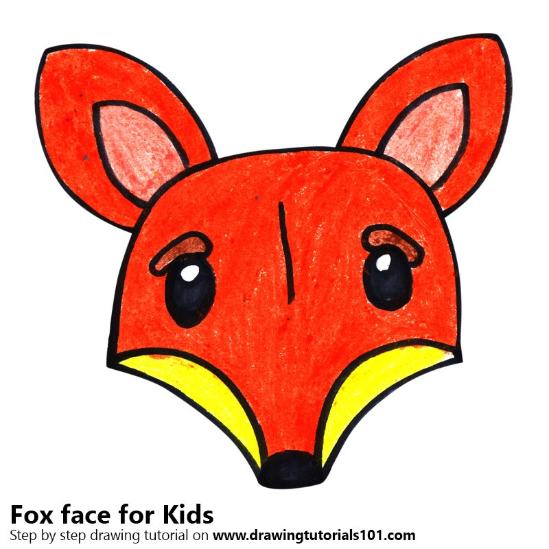 Learn How to Draw a Fox Face for Kids (Animal Faces for ...
