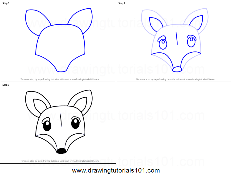 How To Draw A Fox Face For Kids Printable Step By Step Drawing Sheet