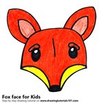 How to Draw a Fox Face for Kids