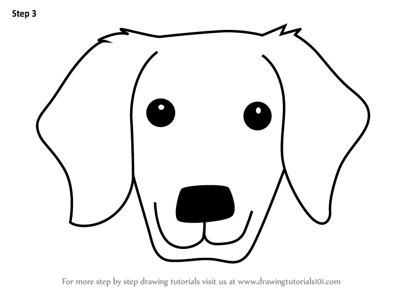 How To Draw Dog Face