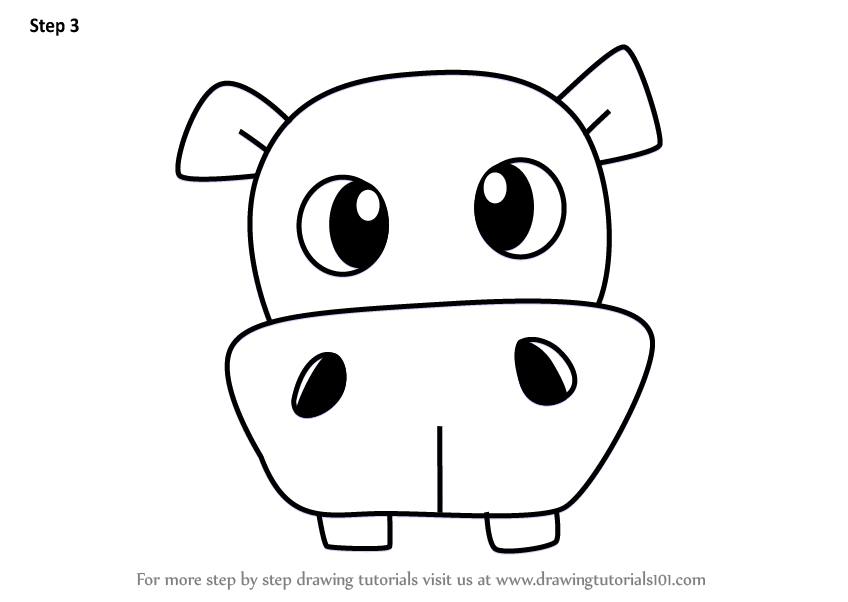 Learn How to Draw a Hippopotamus Face for Kids (Animal ...  Learn How to Dr...