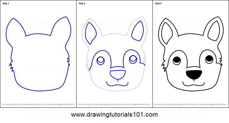 image regarding Printable Face referred to as How toward Attract a Husky Pet Experience for Children printable move as a result of stage