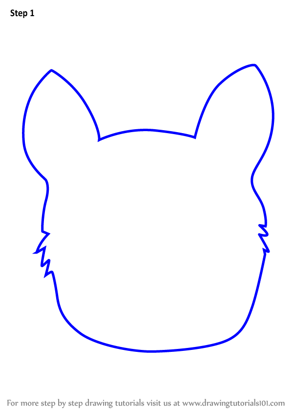Learn How to Draw a Husky Dog Face for Kids (Animal Faces ...