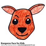 How to Draw a Kangaroo Face for Kids