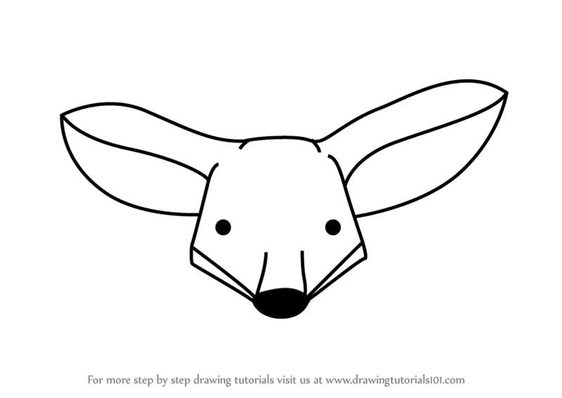 Learn How to Draw a Kit Fox Face for Kids (Animal Faces ...
