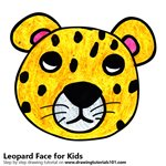 How to Draw a Leopard Face for Kids