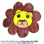 How to Draw a Lion Face for Kids