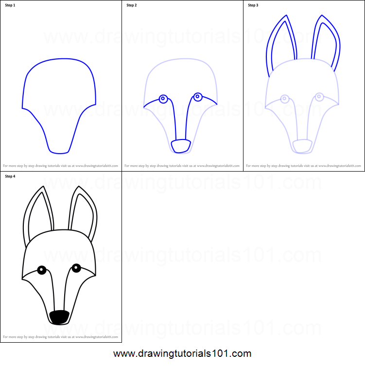 How To Draw A Maned Wolf: How To Draw A Maned Wolf Face For Kids Printable Step By