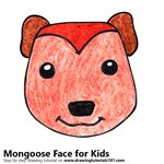 How to Draw a Mongoose Face for Kids