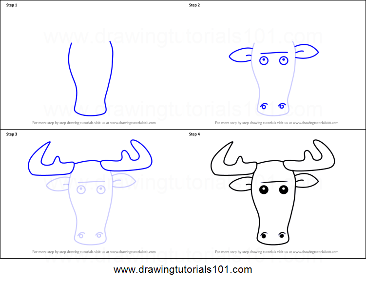 How to draw a moose face for kids printable step by step drawing how to draw a moose face for kids printable step by step drawing sheet drawingtutorials101 thecheapjerseys Images