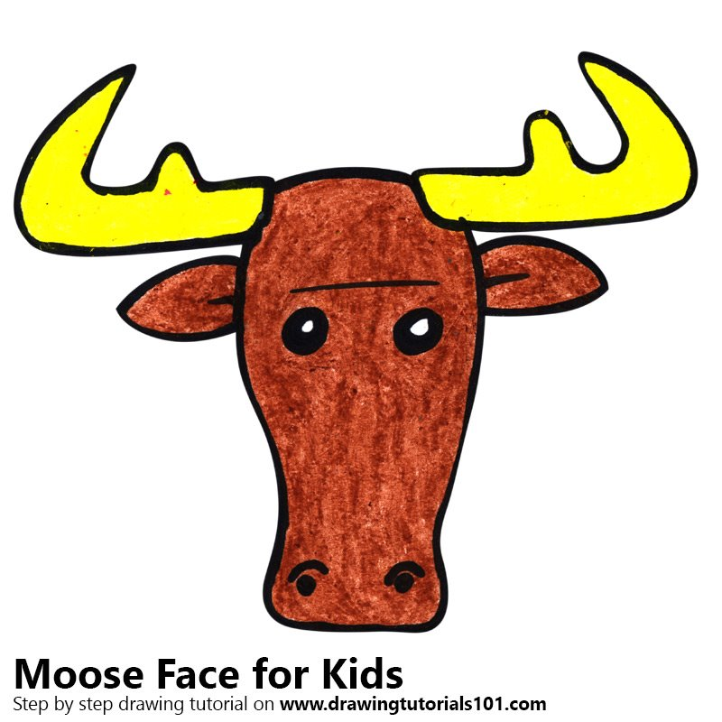 Learn how to draw a moose face for kids animal faces for kids step how to draw a moose face for kids thecheapjerseys Gallery