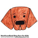 How to Draw a Newfoundland Dog Face for Kids