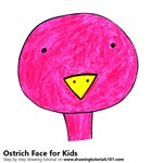 How to Draw an Ostrich Face for Kids