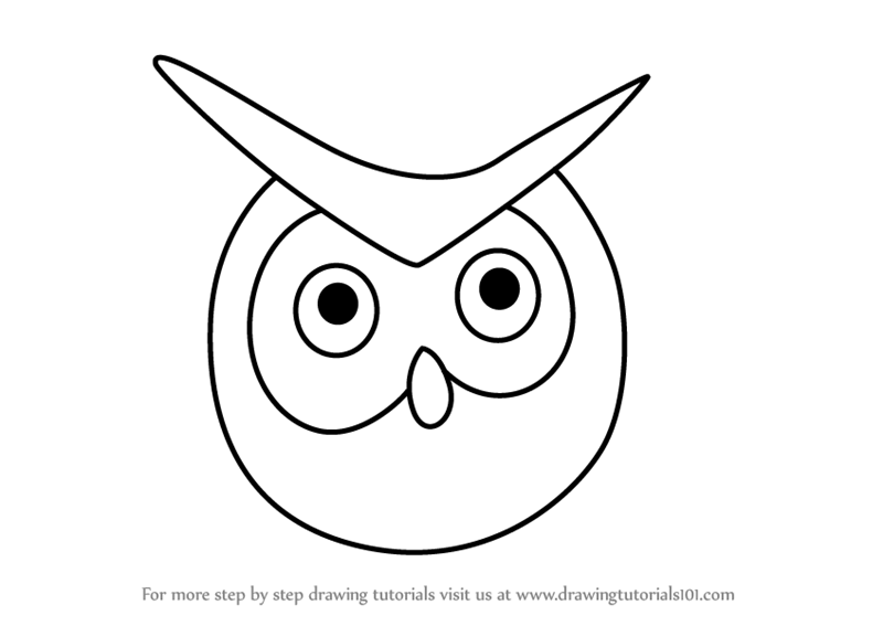 Learn How to Draw an Owl Face for Kids (Animal Faces for ...