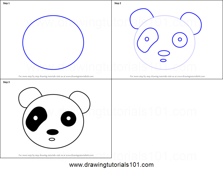 How To Draw A Panda Face For Kids Printable Step By Step Drawing