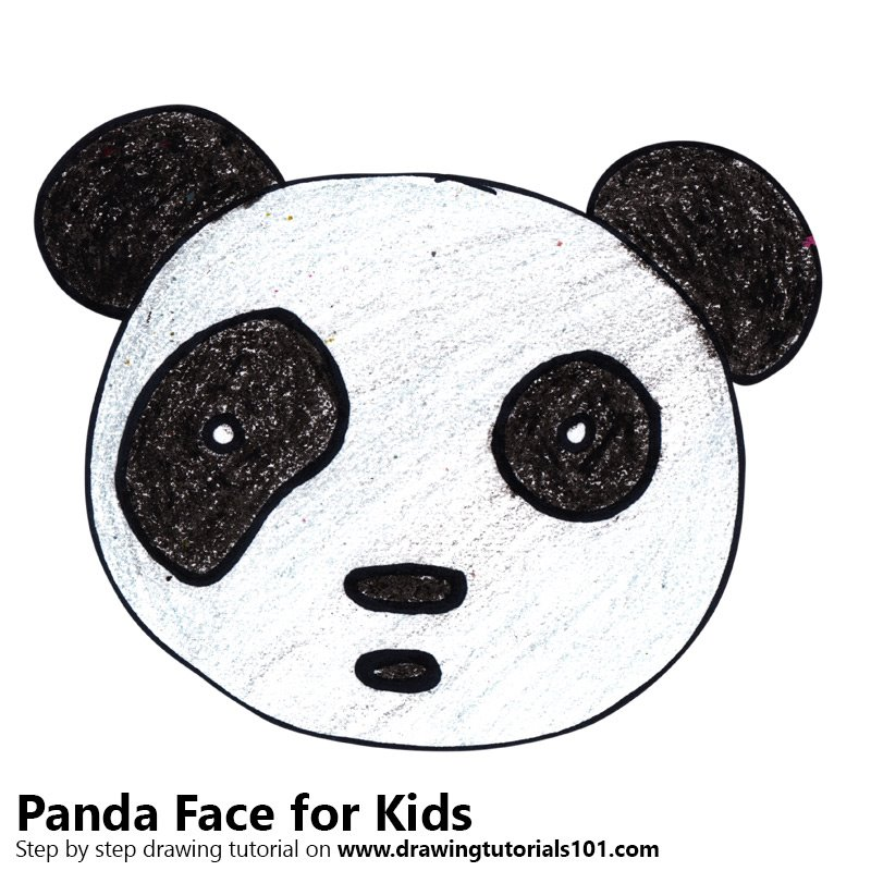 Learn How To Draw A Panda Face For Kids Animal Faces For Kids Step