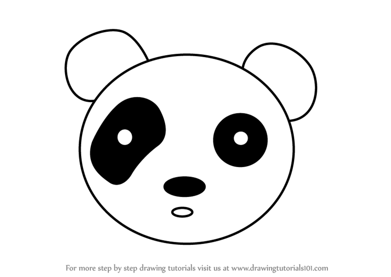 How To Draw Panda Face Step By Step