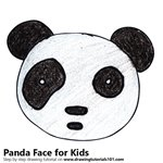 How to Draw a Panda Face for Kids