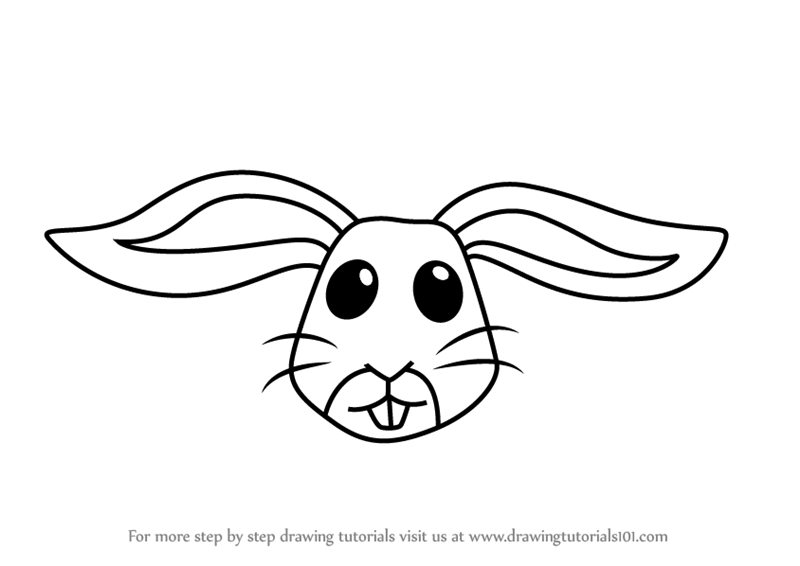 Learn How to Draw a Rabbit Face for Kids (Animal Faces for ...