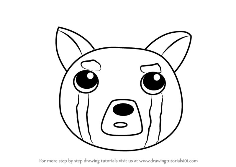 Step by Step How to Draw a Red Panda Face for Kids ...