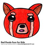 How to Draw a Red Panda Face for Kids