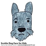 How to Draw a Scottie Dog Face for Kids